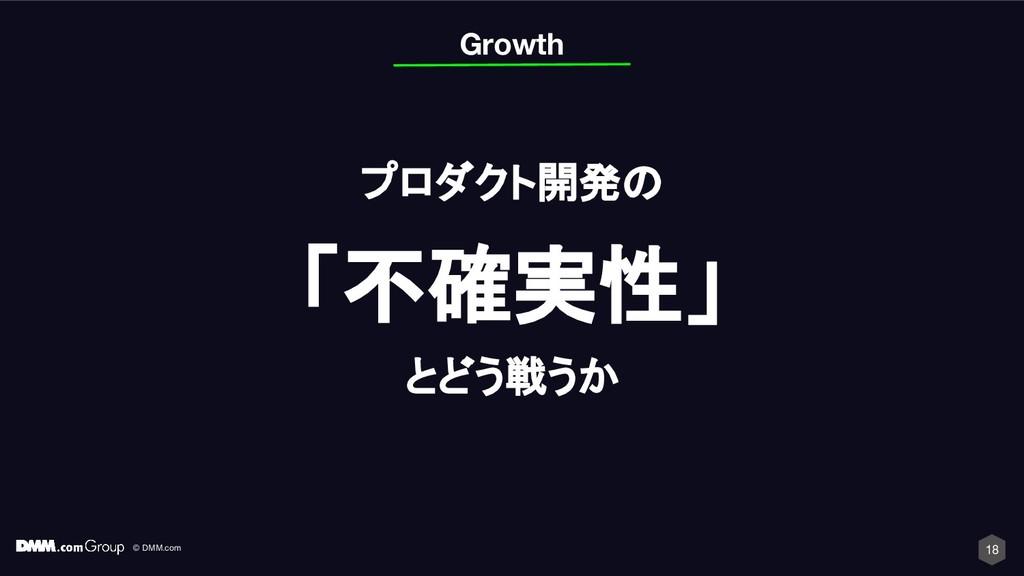 © DMM.com 18 プロダクト開発の 「不確実性」 とどう戦うか Growth