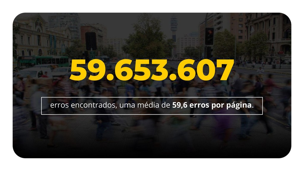 59.653.607 erros encontrados, uma média de 59,6...