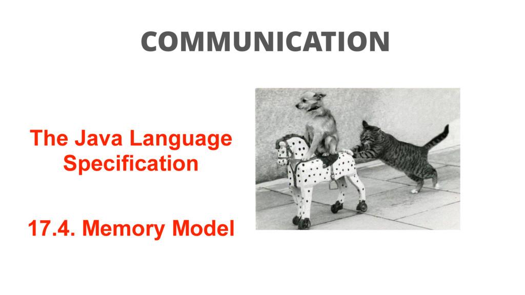 COMMUNICATION The Java Language Specification 1...