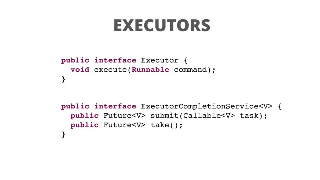 EXECUTORS public interface Executor { void exec...