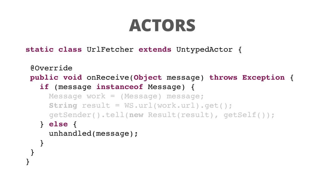ACTORS static class UrlFetcher extends UntypedA...