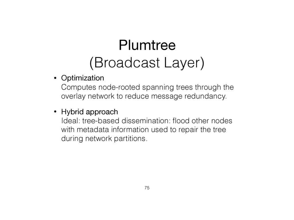 Plumtree (Broadcast Layer) • Optimization Comp...