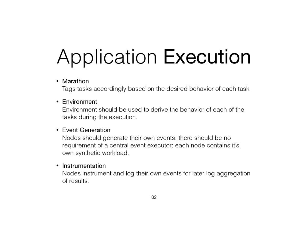 Application Execution • Marathon Tags tasks ac...