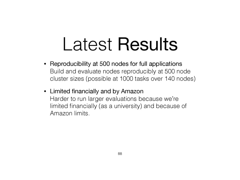 Latest Results • Reproducibility at 500 nodes f...