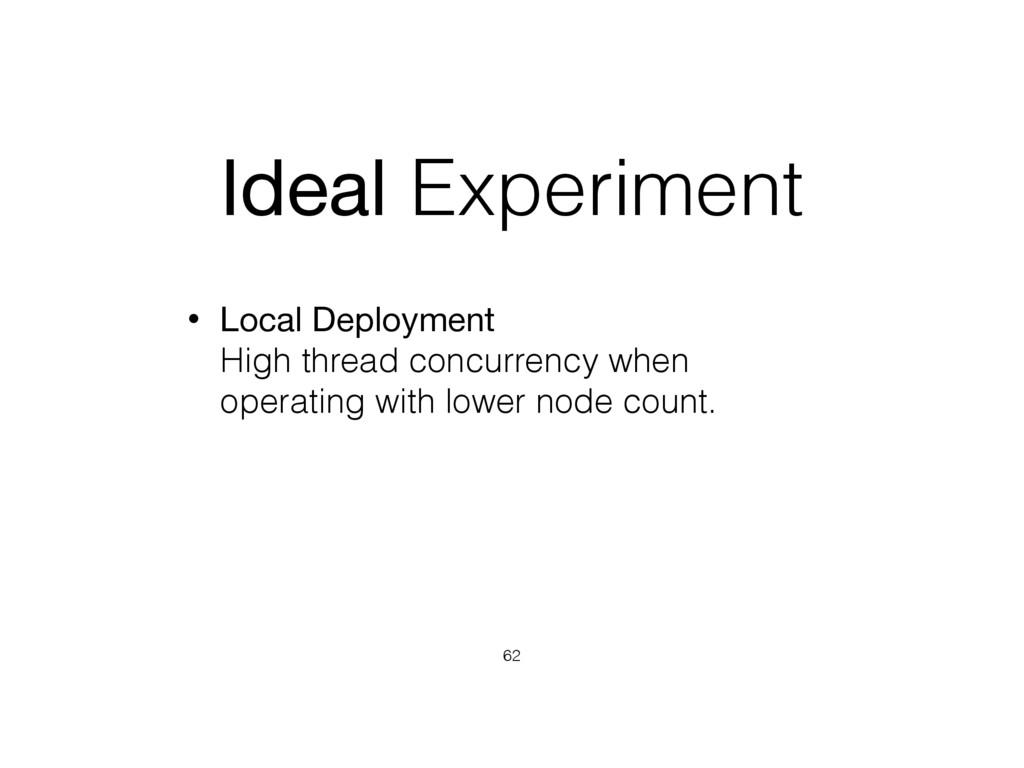Ideal Experiment • Local Deployment High threa...