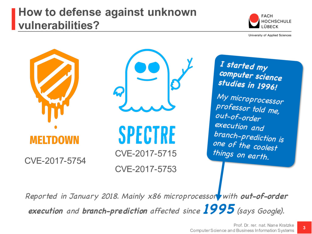 How to defense against unknown vulnerabilities?...