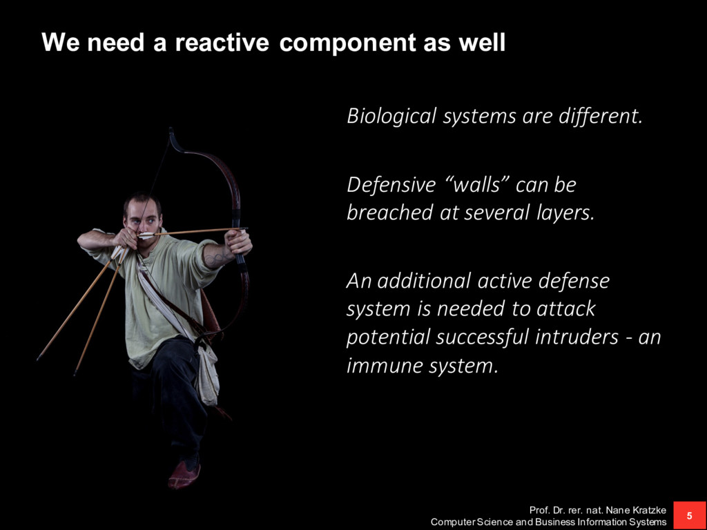 We need a reactive component as well Biological...