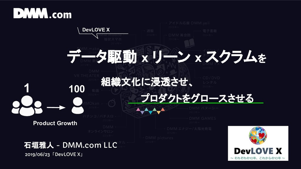 石垣雅人 - DMM.com LLC 2019/06/23 「DevLOVE X」 DevLO...