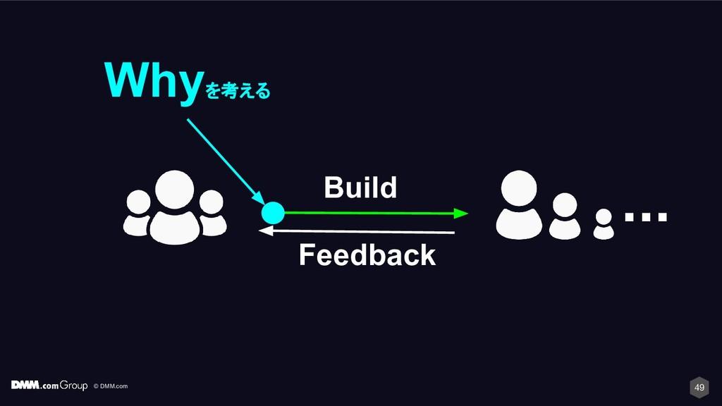 © DMM.com 49 ... Build Feedback Whyを考える