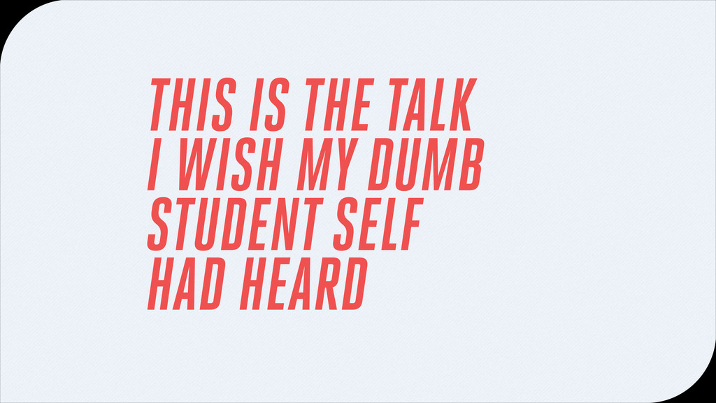 THIS IS THE TALK