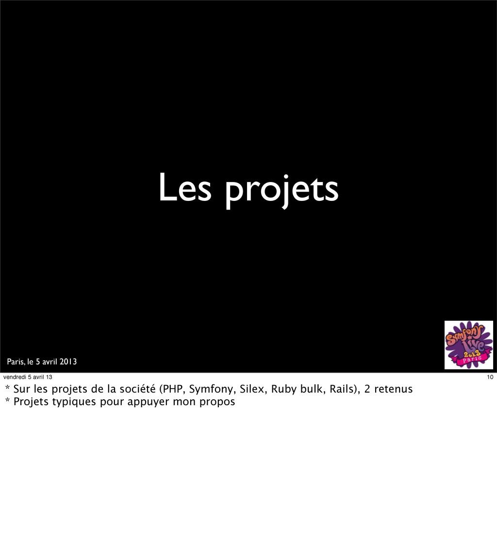 Paris, le 5 avril 2013 Les projets 10 vendredi ...