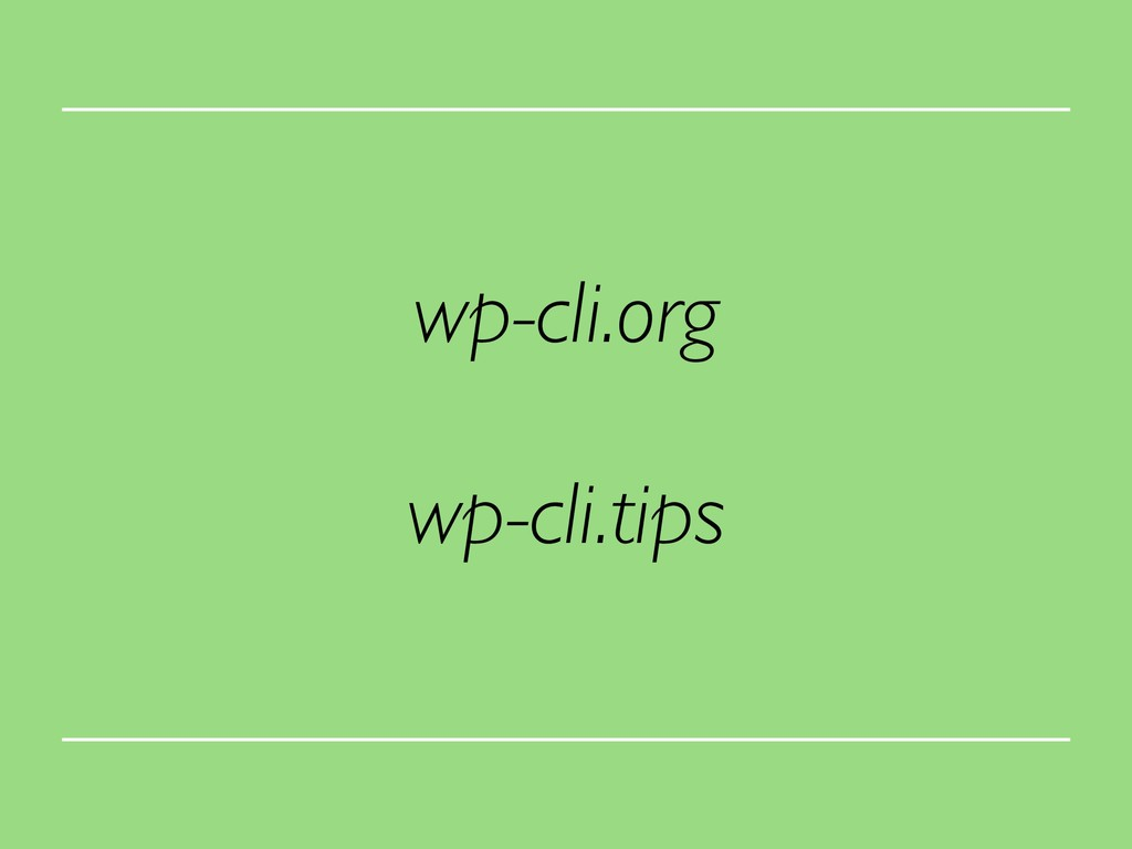 wp-cli.org wp-cli.tips
