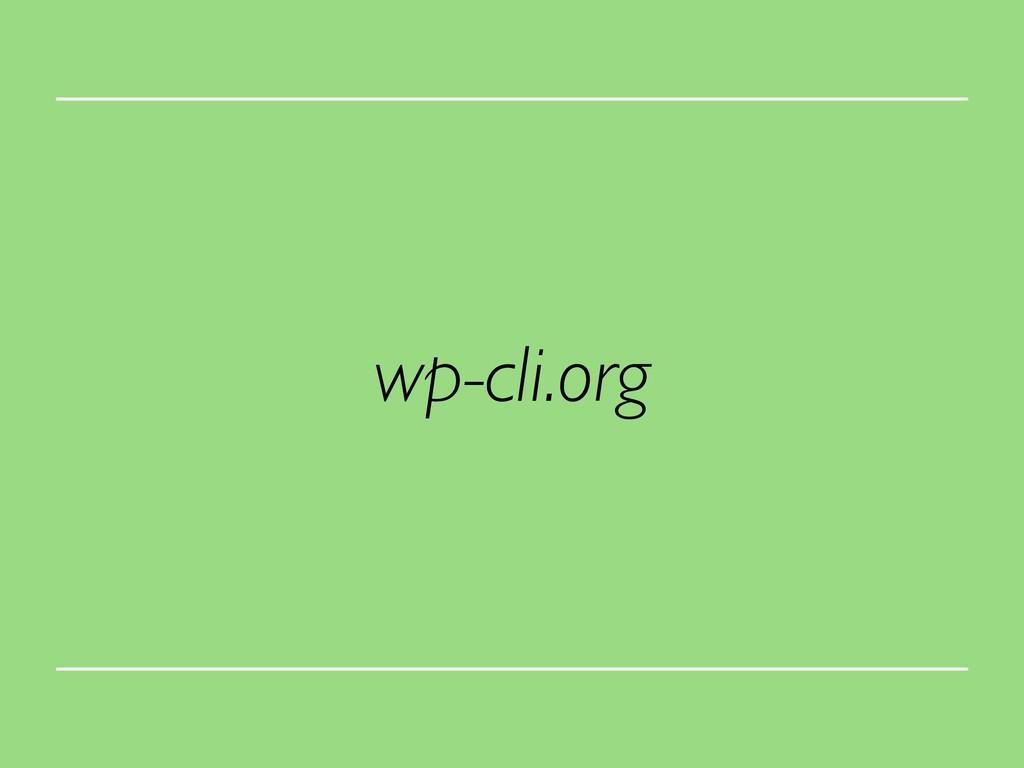 wp-cli.org