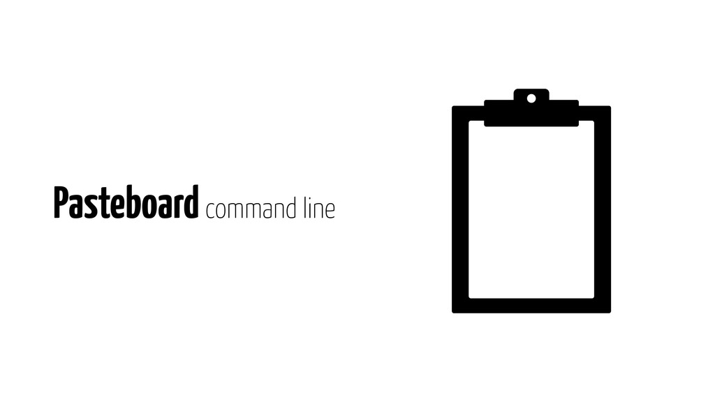 Pasteboard command line