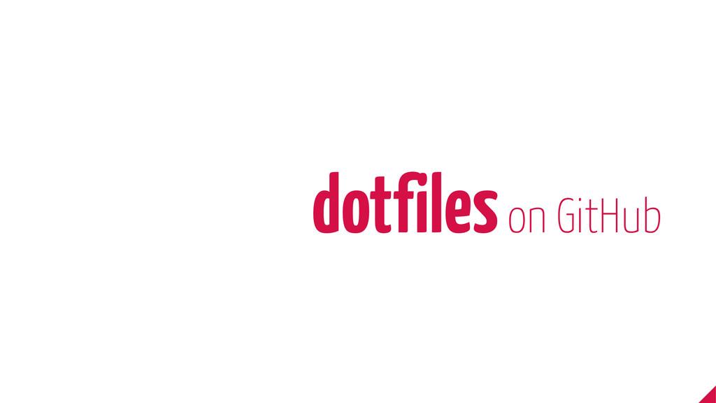 dotfiles on GitHub