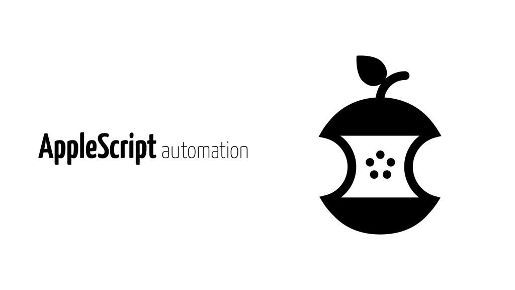 AppleScript automation