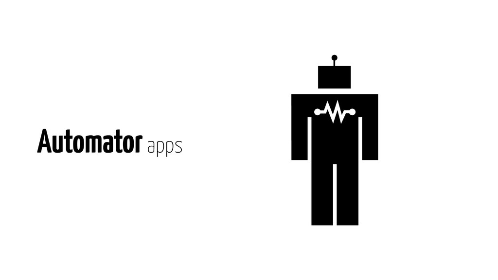 Automator apps
