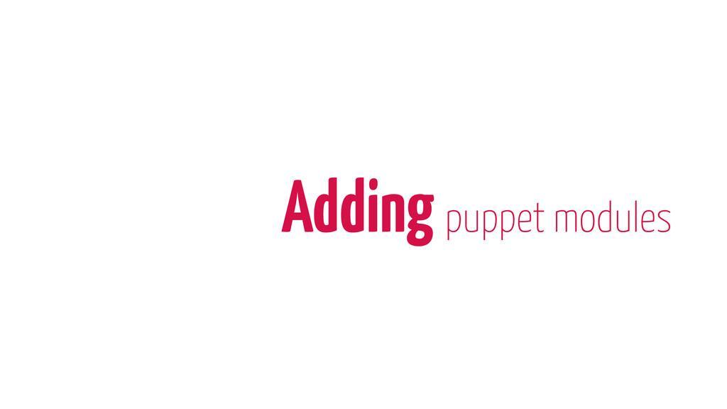 Adding puppet modules