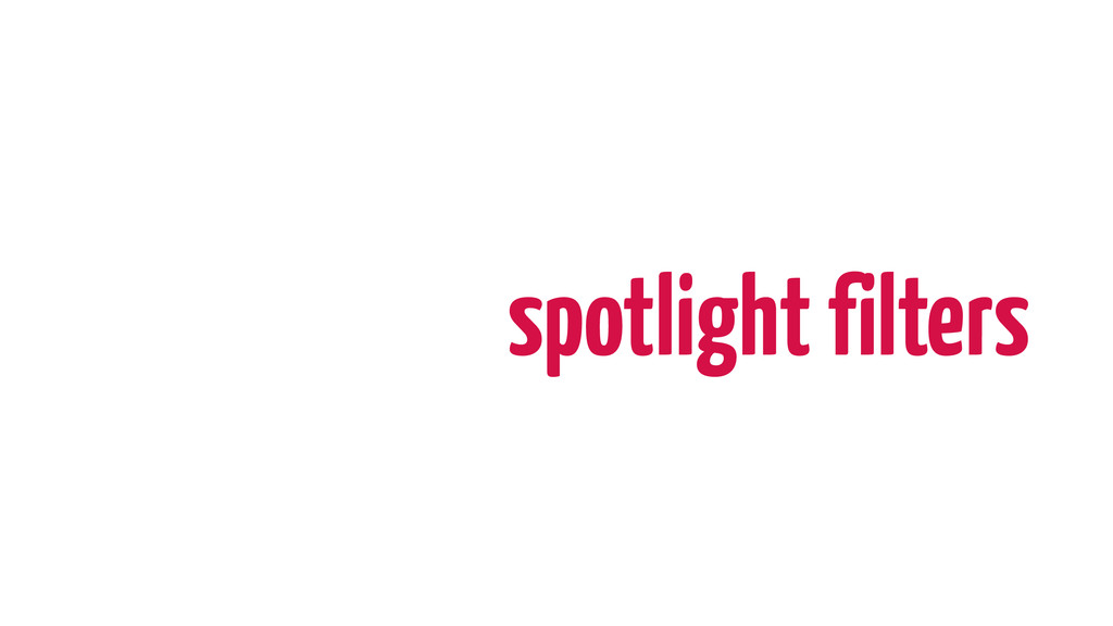 spotlight filters