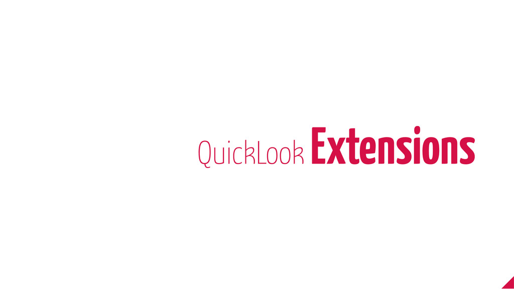 QuickLook Extensions