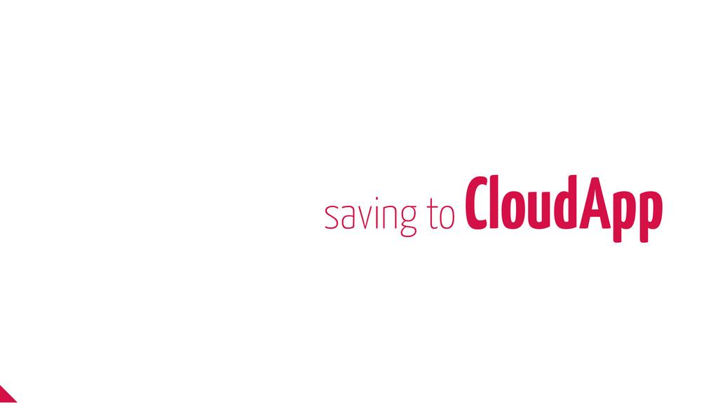 saving to CloudApp