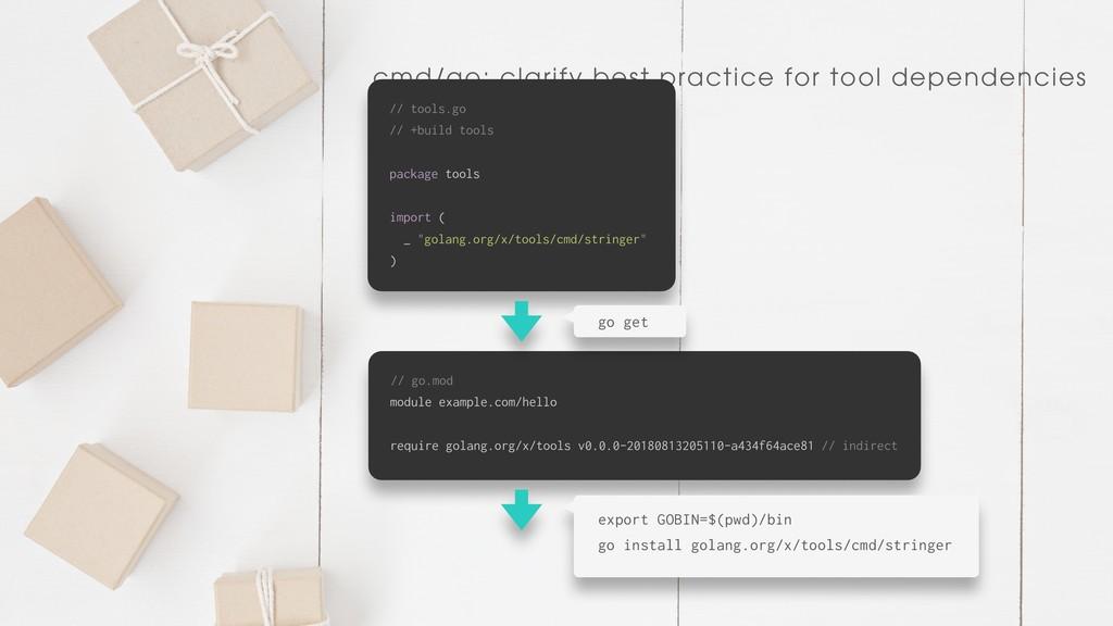 cmd/go: clarify best practice for tool dependen...