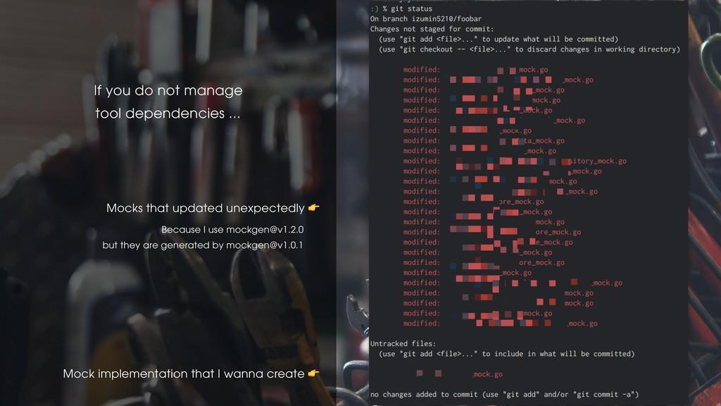 Mock implementation that I wanna create  Mocks ...