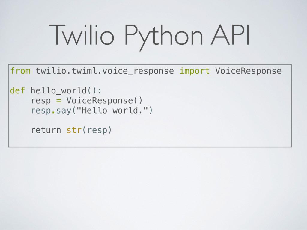 Twilio Python API from twilio.twiml.voice_respo...