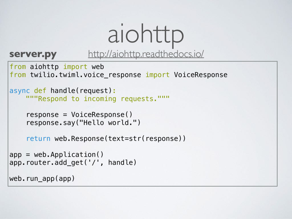 aiohttp from aiohttp import web from twilio.twi...