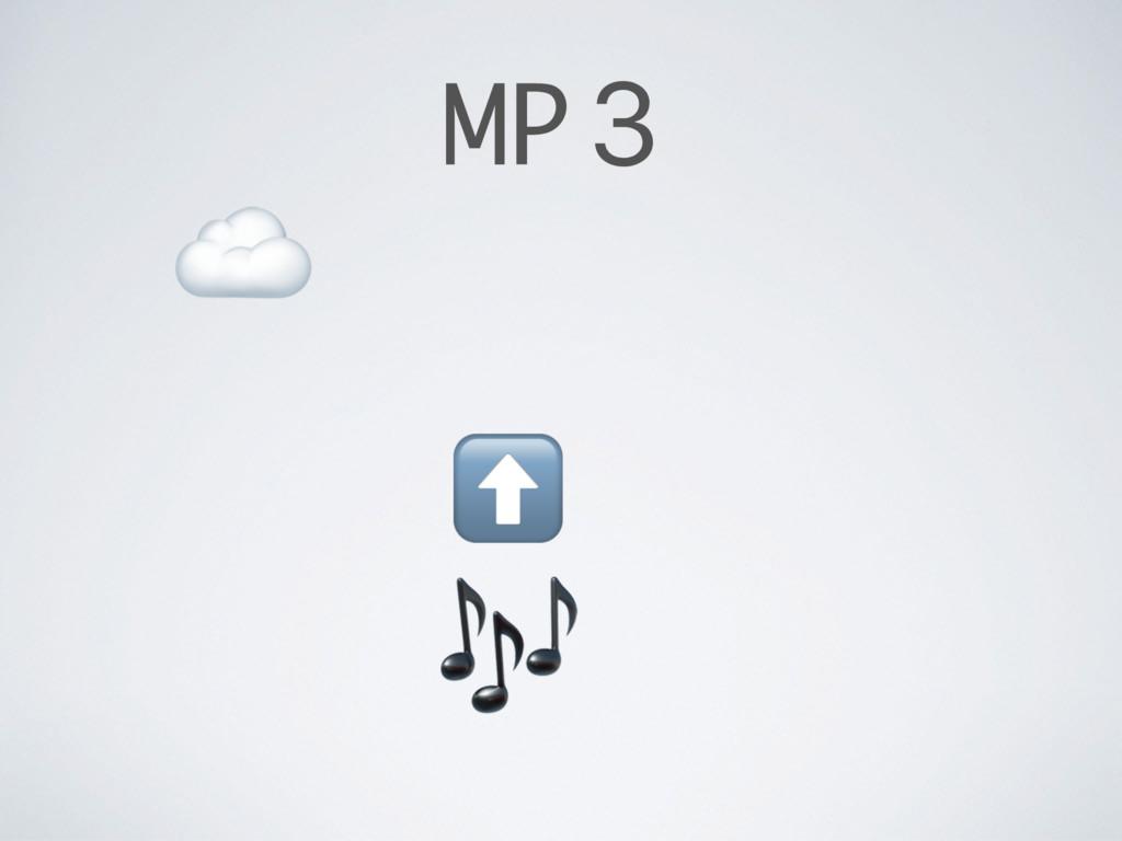 MP3  ⬆ ☁