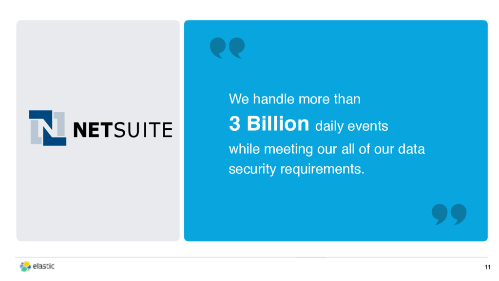 11 We handle more than 3 Billion daily events w...