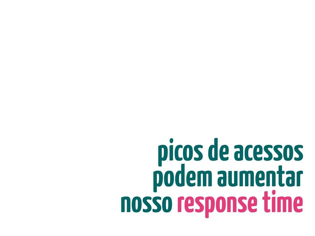 picos de acessos podem aumentar nosso response ...