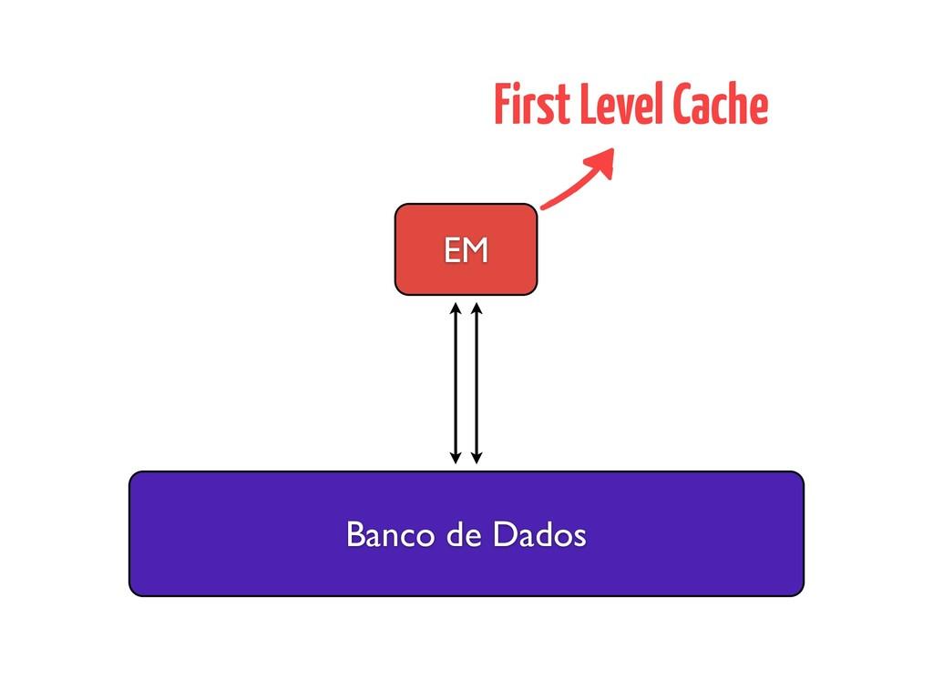 Banco de Dados EM First Level Cache