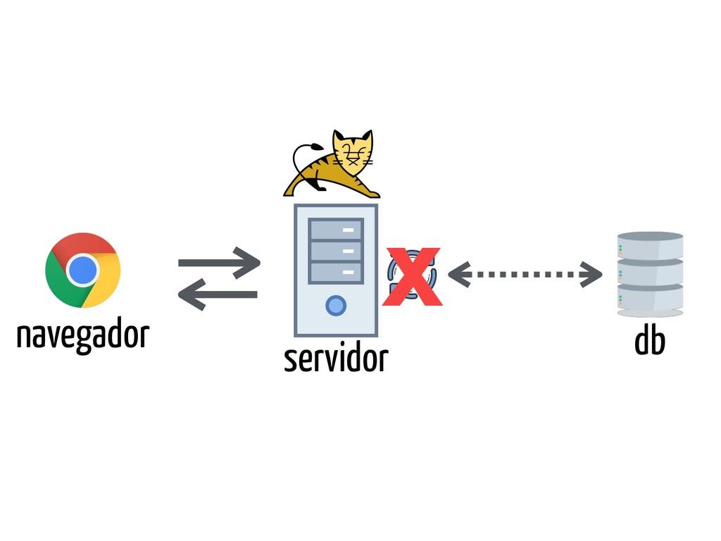 navegador servidor db X