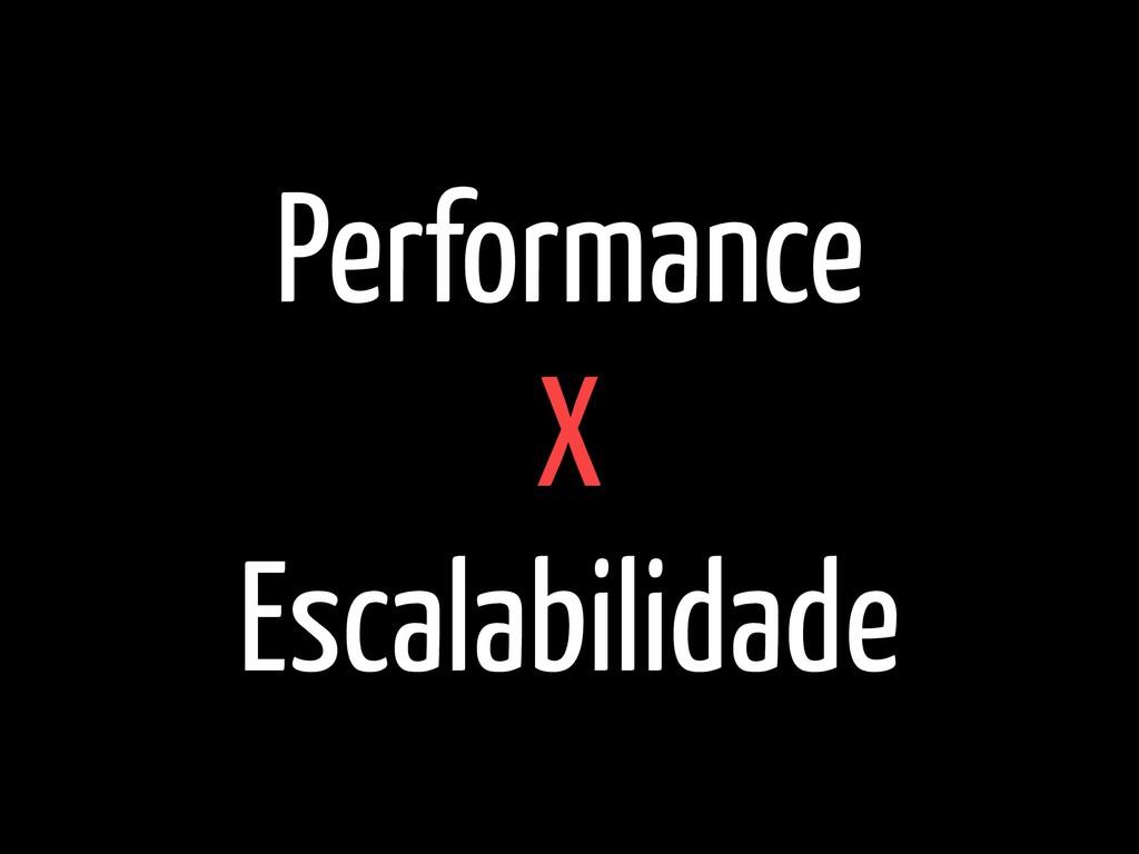 Performance  X  Escalabilidade