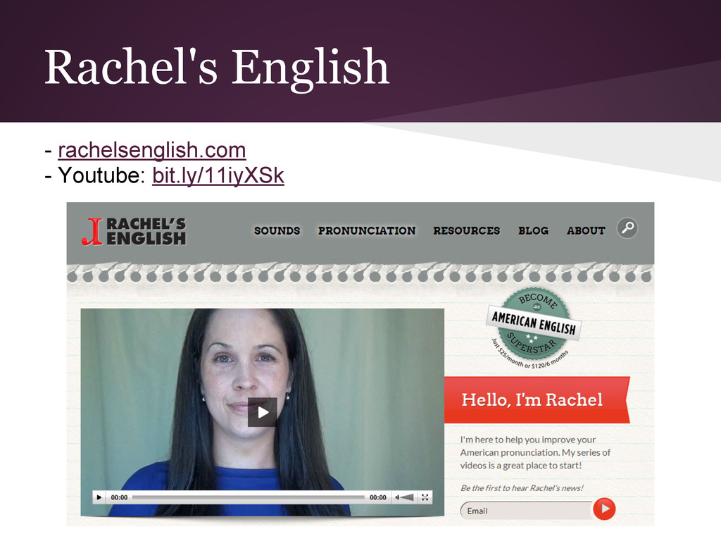 Rachel's English - rachelsenglish.com - Youtube...