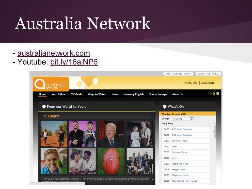 Australia Network - australianetwork.com - Yout...