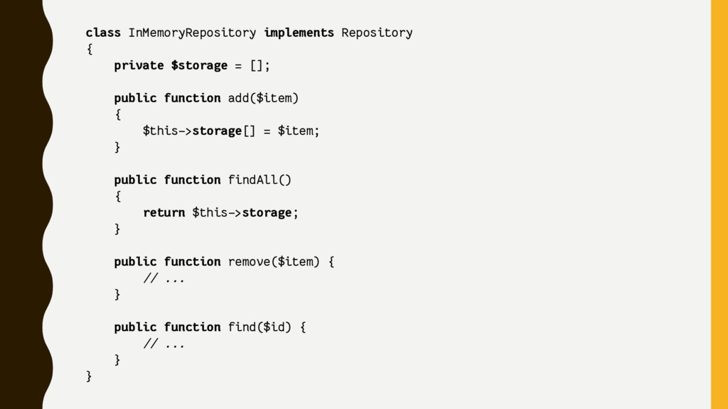 class InMemoryRepository implements Repository ...