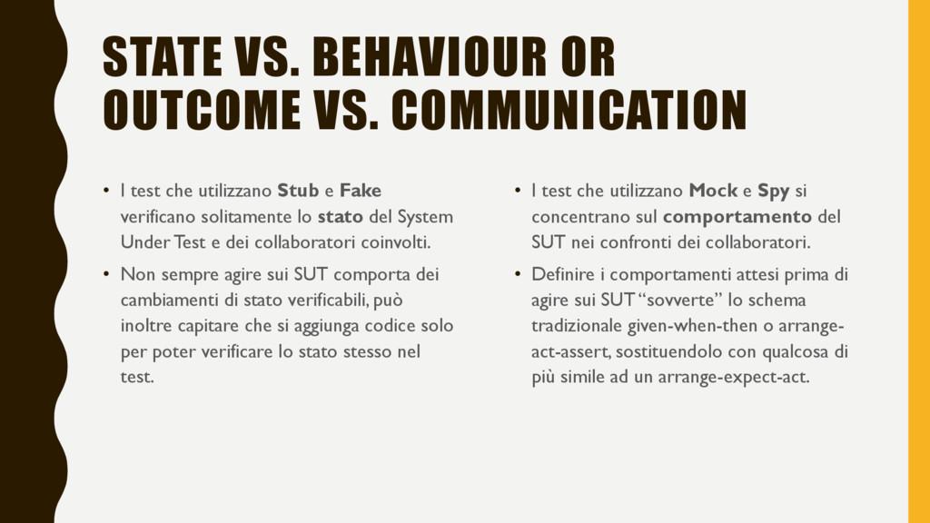 STATE VS. BEHAVIOUR OR OUTCOME VS. COMMUNICATIO...