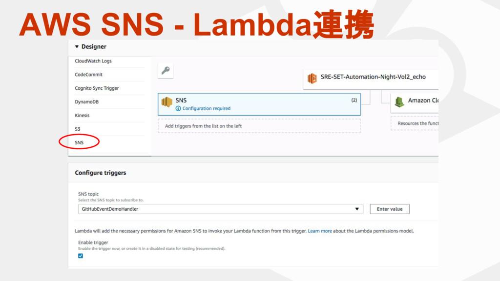 AWS SNS - Lambda連携