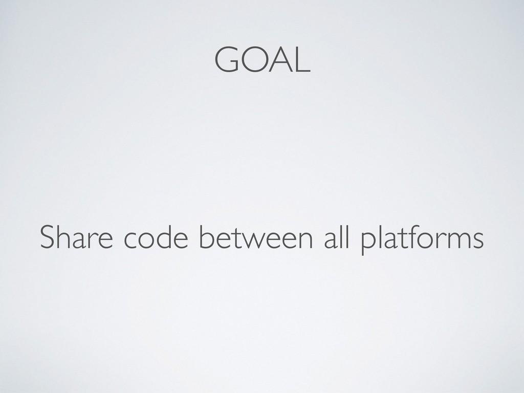 GOAL Share code between all platforms