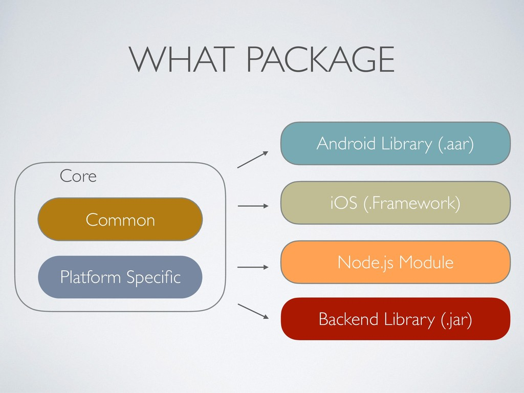 WHAT PACKAGE Core Common Platform Specific Andro...