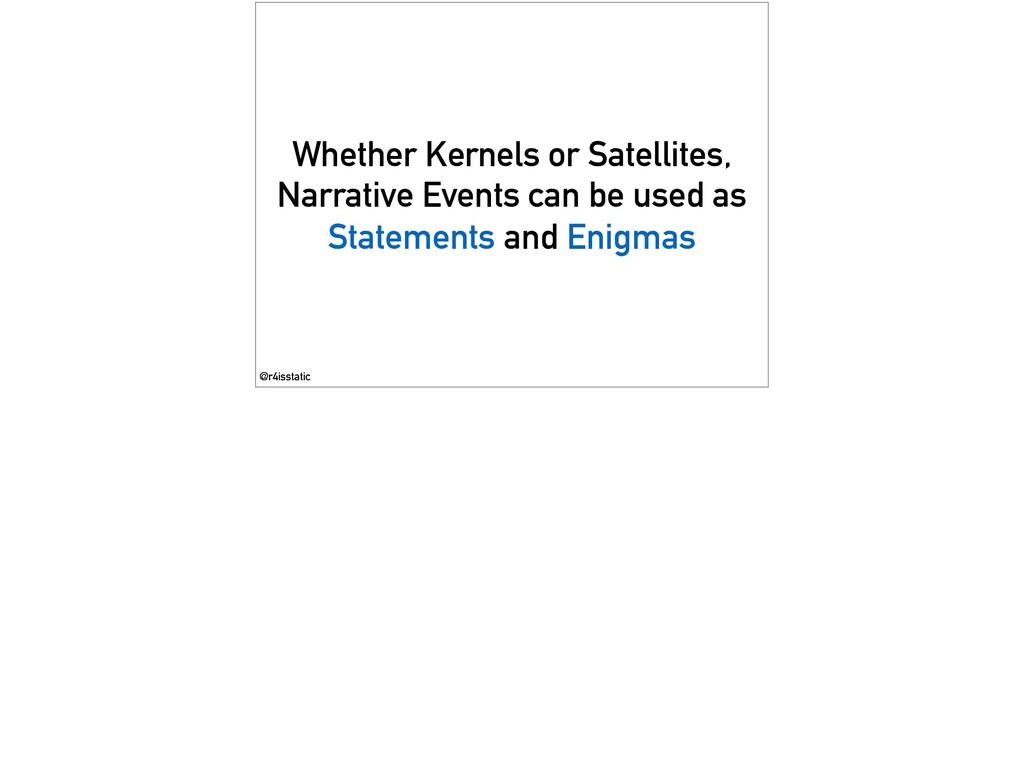 Whether Kernels or Satellites, Narrative Events...