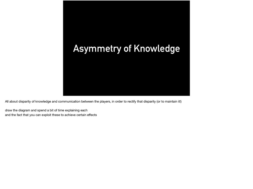 Asymmetry of Knowledge All about disparity of k...