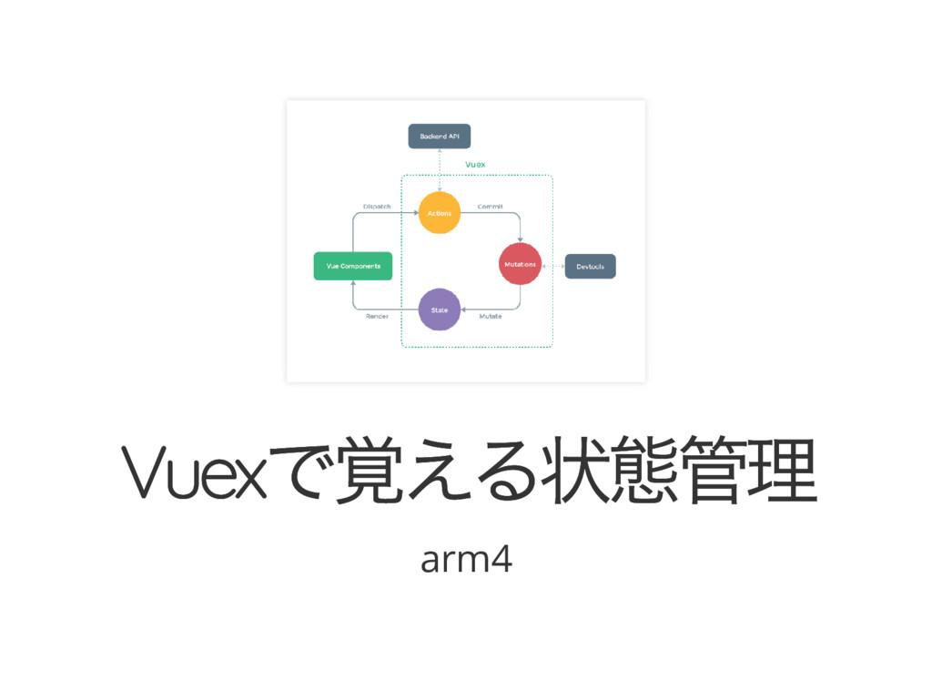 Vuex で覚える状態管理 Vuex で覚える状態管理 arm4