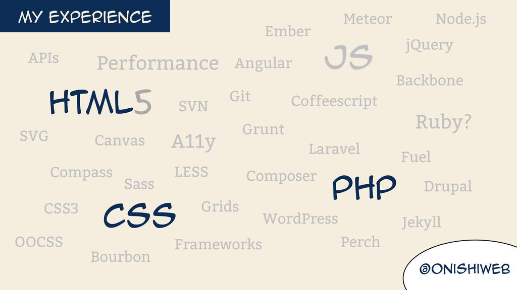@onishiweb HTML5 Css Js Php LESS Sass Compass B...