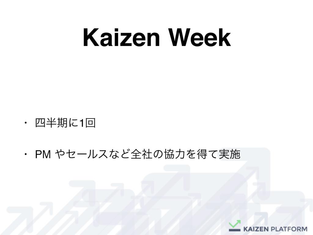 Kaizen Week • ظʹ1ճ • PM ηʔϧεͳͲશࣾͷڠྗΛಘ࣮ͯࢪ