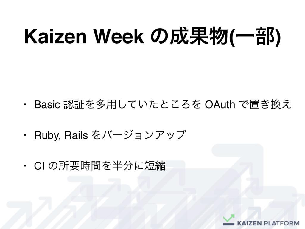 Kaizen Week ͷՌ(Ұ෦) • Basic ূΛଟ༻͍ͯͨ͠ͱ͜ΖΛ OAut...