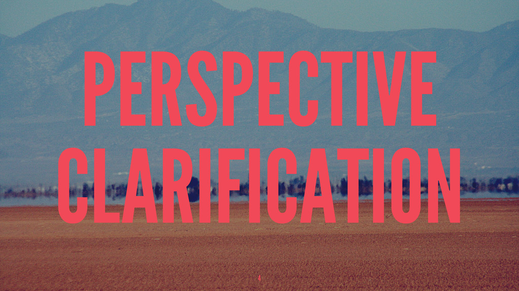 PERSPECTIVE CLARIFICATION 4