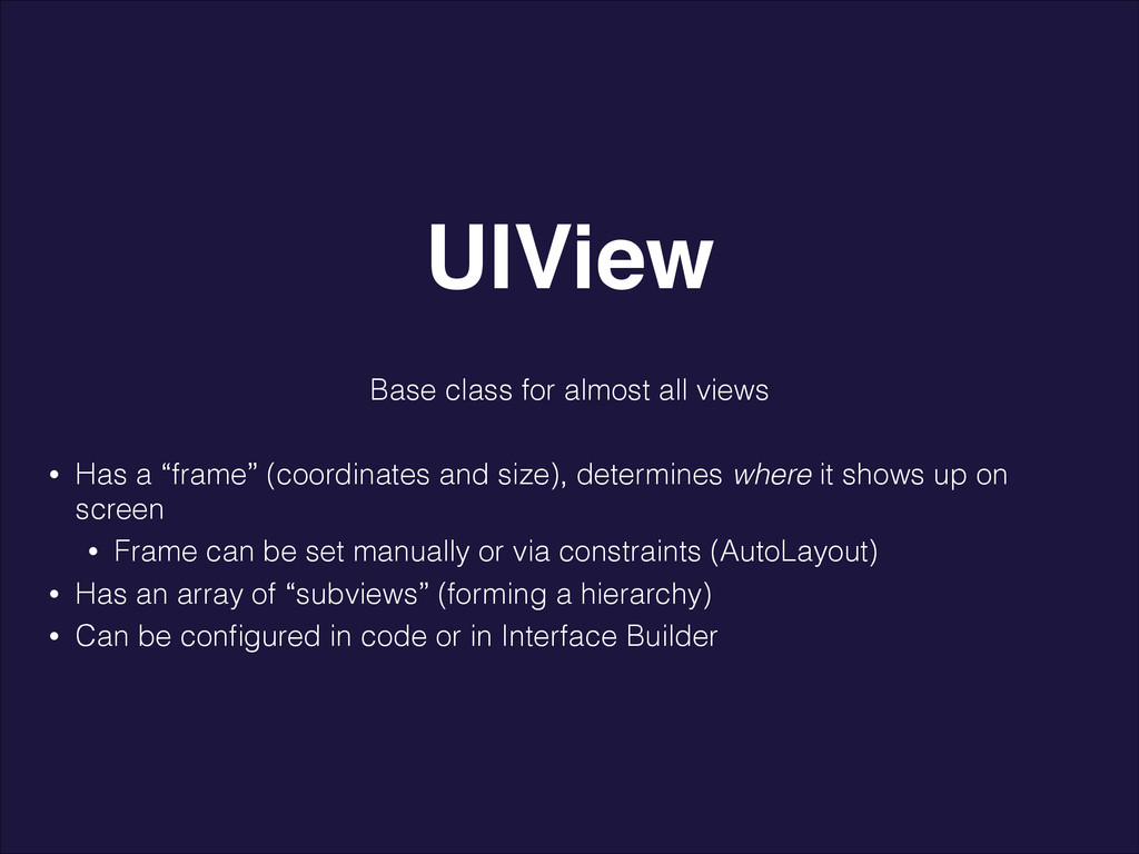 """Base class for almost all views ! • Has a """"fram..."""